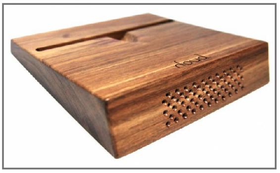 Referencia: Houdpassive. Parlante en madera: creadores Sandoval D. & Huertas G., Bogotá. www.houdsound.com/about.html.