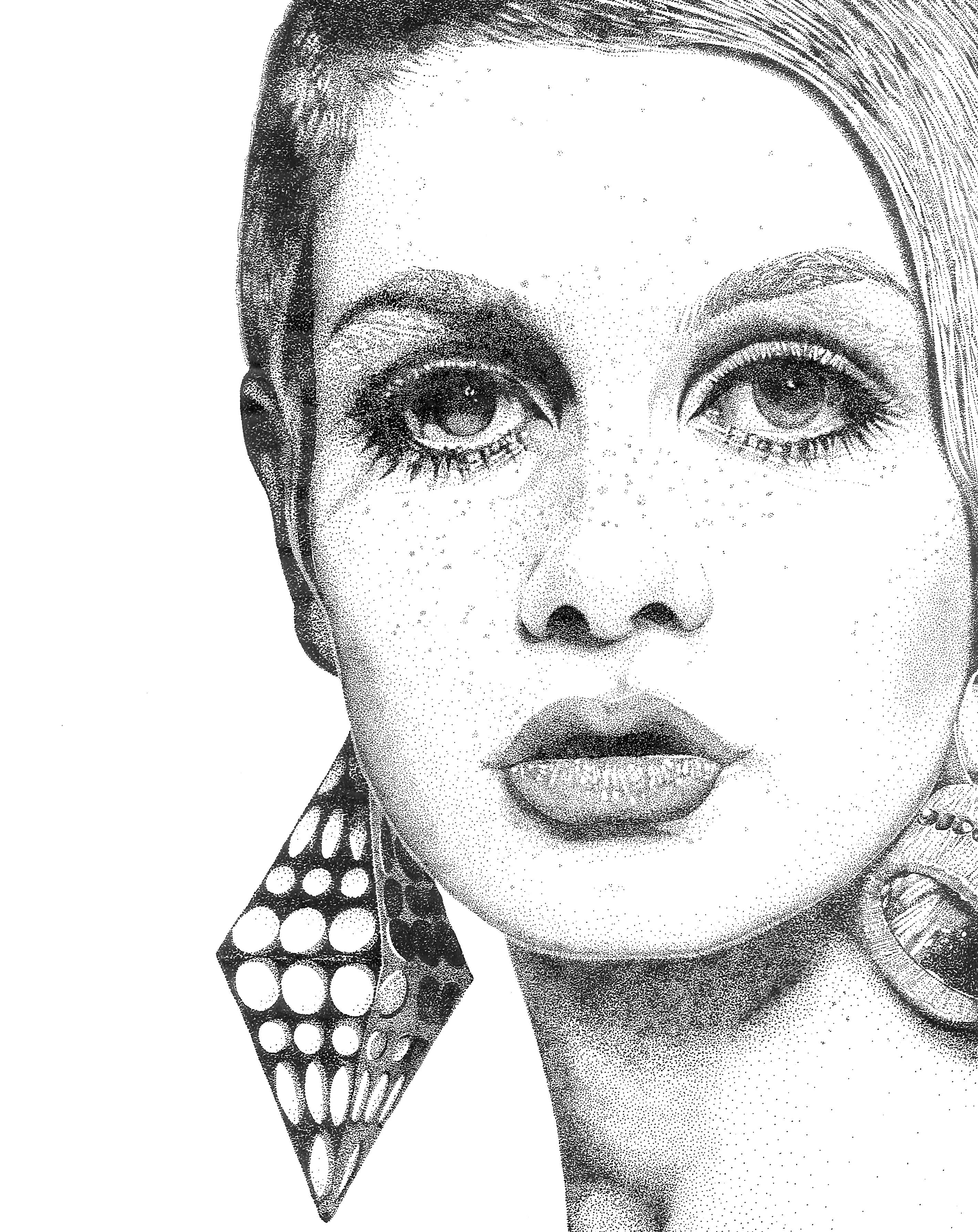 Ilustración Twiggy Sofia Uriza