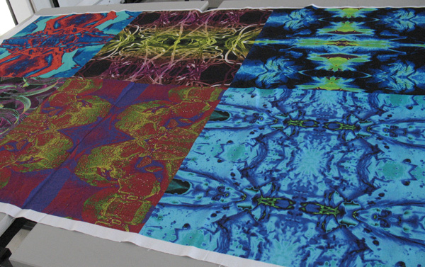 Juan Torres, algodón impreso para cojines, imágenes MEB